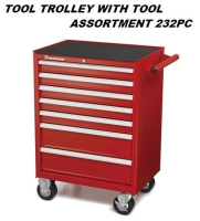TOOL TROLLEY WITH TOOL ASSORTMENT 232PC