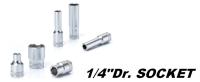 手動工具-1/4DR. 6PT 手動套筒