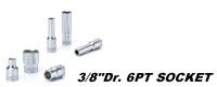 手動工具-3/8DR. 6PT手動套筒