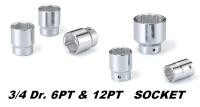 手動工具-3/4DR. 6PT&12PT SOCKET