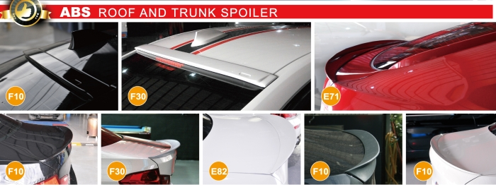ABS ROOF AND TRUNK SPOILER