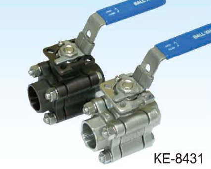 3-PC TYPE BALL VALVE, HIGH PRESSURE, SCREWED ENDS
