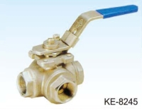 3-WAY TYPE BALL VALVE, SCREWED ENDS