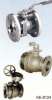 2-PC TYPE BALL VALVE, FLANGGED ENDS