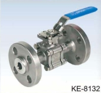 3-PC BALL VALVES, FLANGED ENDS