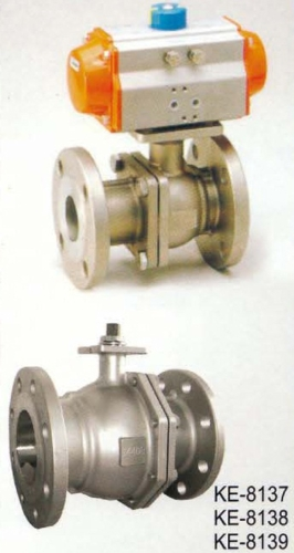 2-PC TYPE BALL VALVE,FLANGED ENDS