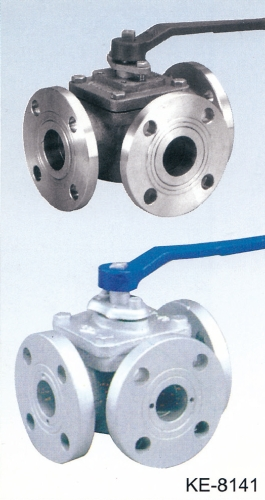 3-WAY TYPE BALL VALVE,FLANGED ENDS