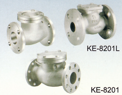 KE-8201 CHECK VALVE, FLANGED ENDS, SWING TYPE KE-8201L CHECK VALVE, FLANGED ENDS, LIFT TYPE