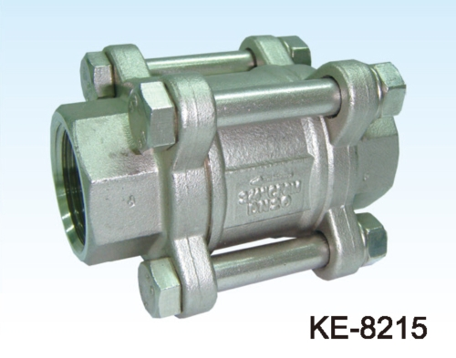 3-PC TYPE CHECK VALVE, SCREWED ENDS