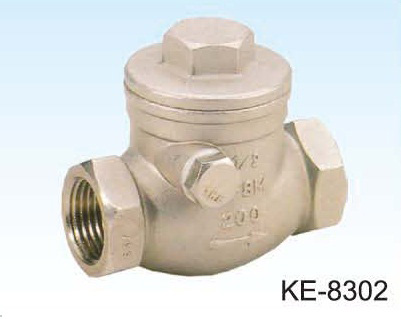 SWING TYPE CHECK VALVE, SCREWED ENDS