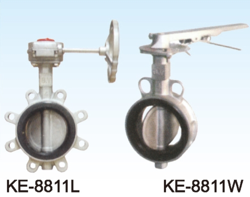 KE-8811L BUTTERFLY VALVE, LUG TYPE KE-8811W BUTTERFLY VALVE,WAFER TYPE