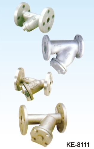 Y-TYPE STRAINER, FLANGED ENDS