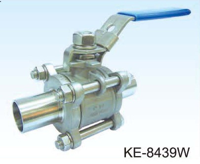3-PC TYPE BALL VALVE (FOOD & SANITARY GRADE)  CLAMP & BUTT-WELD ENDS