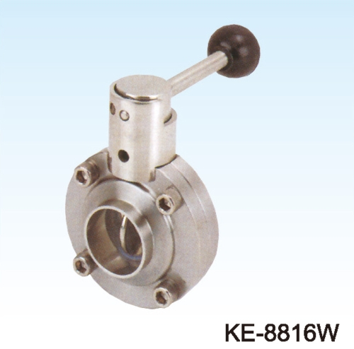 BUTTERFLY VALVE (FOOD & SANITARY GRADE) WELD ENDS