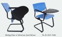 椅座收合式学生椅+写字板