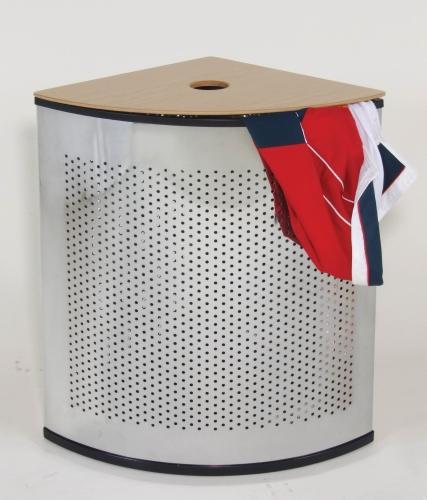 扇型不鏽鋼髒衣桶(1/4圓)