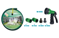 Cens.com 1/2 15 Meters Reingorced Garden Hose with 5 Pcs 7 Pattern Plastic Gun Set GUI YO INDUSTRIAL CO., LTD.