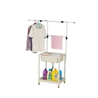 FRP sink with racks for hanging clothes