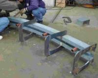 分流式架空式输送系统 轨道焊接