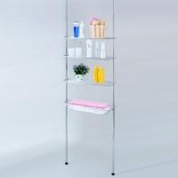 Floor-to-ceiling Retractable Bathroom Racks