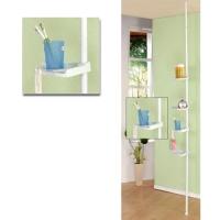 Floor-to-Ceiling Retractable Bathroom Shelves