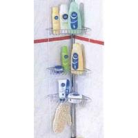 Floor-to-ceiling Retractable Bathroom Corner Racks