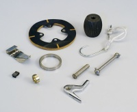 Parts for knitting machines / Spring leaves, clips