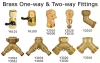 Brass One Way & Two Way Fittings