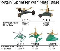 Rotary Sprinkler with Metal Base