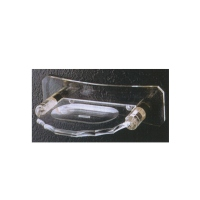 Cens.com Wall-mount, brass-alloy and acrylic soap dish CHIMEI BATHROOM ACCESSORIES