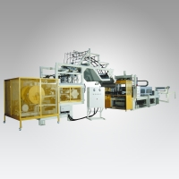 HIPS / PS / PE Fully Automatic Continuous Preheating Vacuum Forming Machine