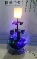 落地燈結合多功能組合式園藝花架