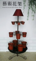 Floor Lamp with Multifunctional K/D Flower Rack