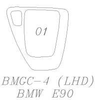 E90 排檔面板