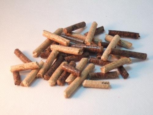 Compressed sawdust fuel