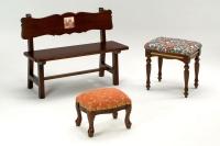 木製椅,長條椅,多用途家具