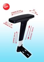 NEW-4D Height Adjustable Armrest with Polyurethane 4D Arm Pad