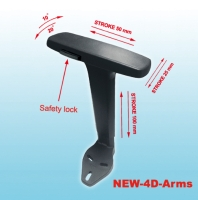 NEW-4D Height Adjustable Armrest with Polyurethane 4D Arm Pad