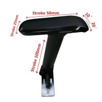 新型4D-手拉式升降扶手S1鐵片+4D多功能 扶手墊(全黑色)