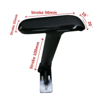 Adjustable Arm Rest S1 Bracket with 4D Multi-function  Arm Pad (All black)