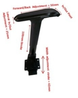 Adjustable Arm Rest with 4D Multi-function  Arm Pad (All black)