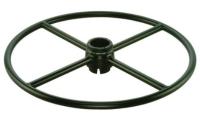 Adjustable footring w/Internal lock & release Mechanism (Round steel ring & spoke)_BK
