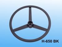 調整式腳圈(鐵製扁圈及三叉軸)_BK