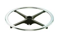 Adjustable footring w/Internal lock & release Mechanism (Flat steel ring & Aluminum spoke)