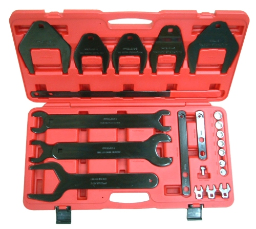24PC. Fan Clutch Removing/Installing Set & Serpentine Belt Tool & Accessories