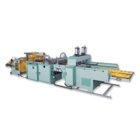 High-Efficiency Fully Automatic T-shirt Bag Making Machine with Servo-Drive System (Non-Stop)