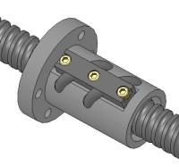 凸管外循环法兰型单螺帽