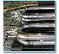 Radiant tubes for cementing furnaces