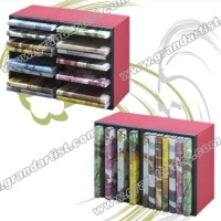 Stackable 14DVDs or 28CDs storage rack