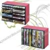 Stackable 14DVDs or 28CDs storage rack